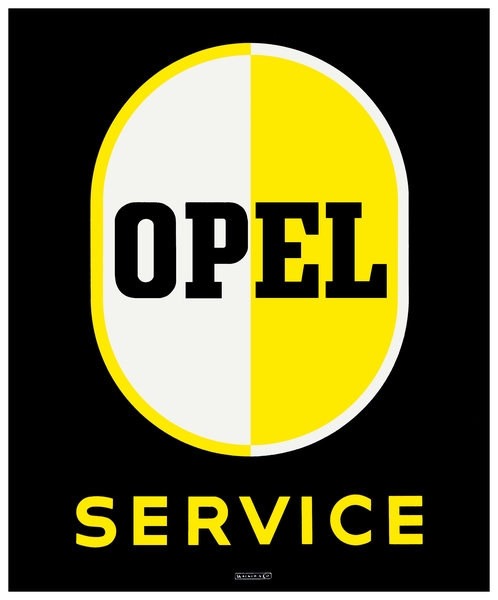 Opel Service sign