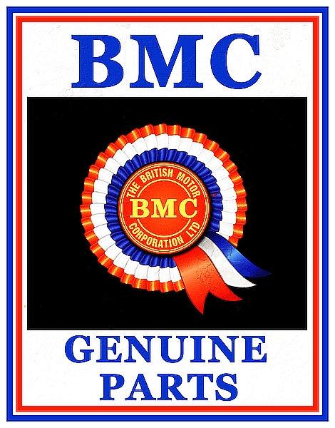 BMC Genuine Parts metal sign