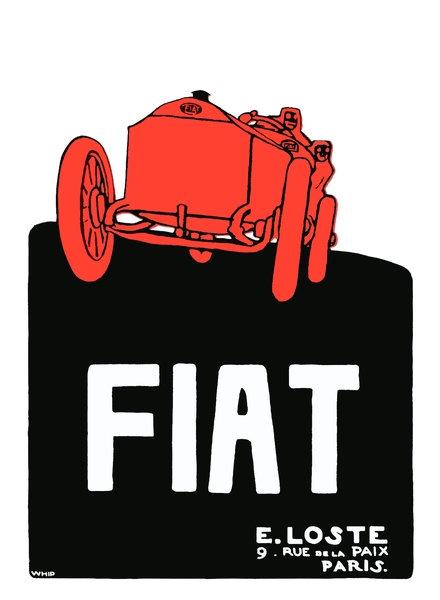FIAT Dealer advert, Paris 1909 sign