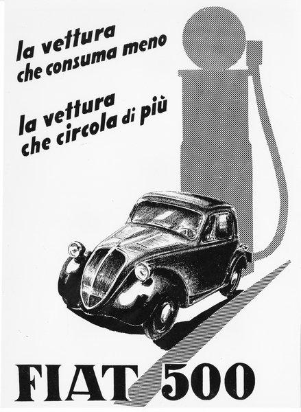 FIAT Topolino Ad c.1936 sign