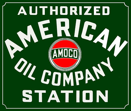 American Oil Company Authorized Station sign