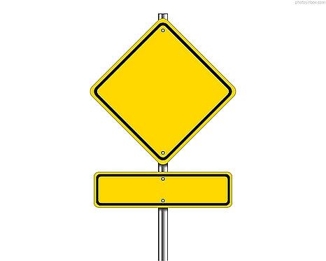 Blank Road metal sign