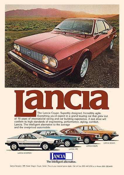 Lancia Coupe Advert Sign