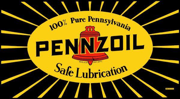 Pennzoil Safe Lubrication metal sign