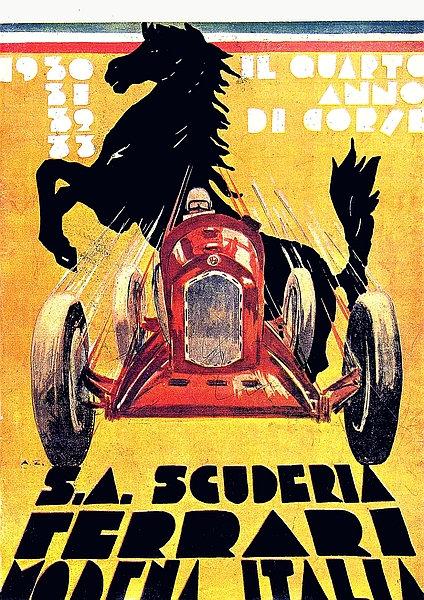 S.A. Scuderia Ferrari Modena Italia A3 Sign