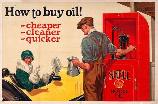 How To Buy Oil! Shell Motor Oil sign
