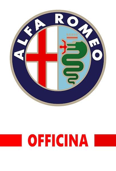 Alfa Romeo Officina metal sign