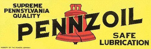 Pennzoil metal sign