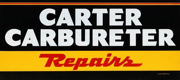 Carter Carbureter Repairs Sign