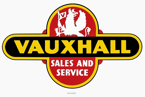 Vauxhall Sales and Service metal sign