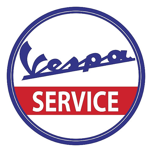 Vespa Service metal sign