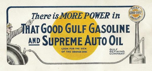 Gulf Gasoline advert