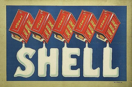 Shell Motor Spirit metal sign
