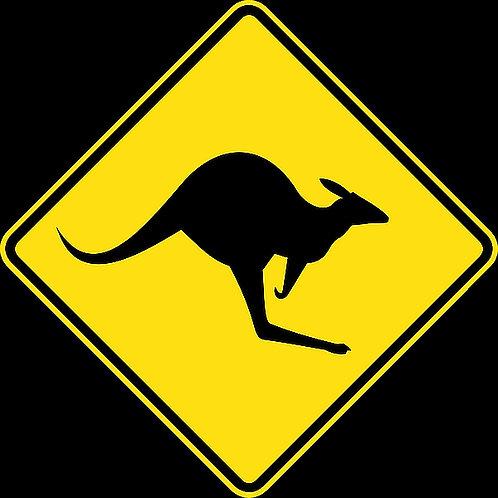 KANGAROOS road sign