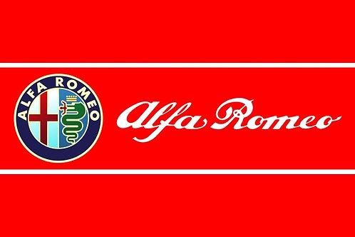 Alfa Romeo badge and title sign