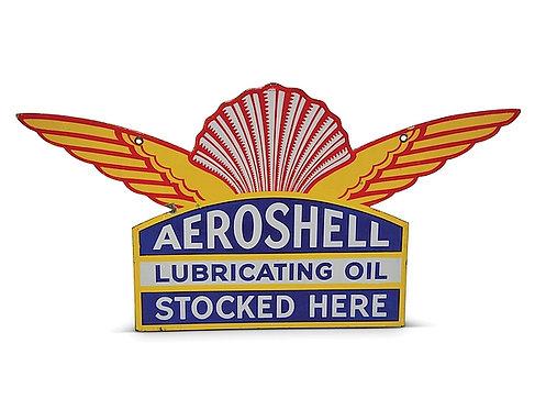 Aeroshell Lubricating Oil metal sign