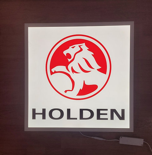 Holden Red Lion on White - Illuminated Sign
