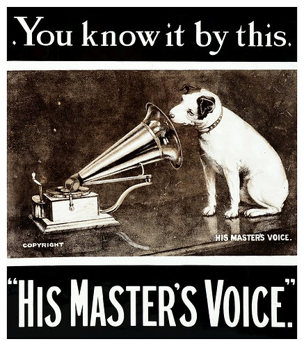 His Masters Voice sign
