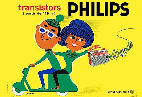 Philips Transistors A3 Sign