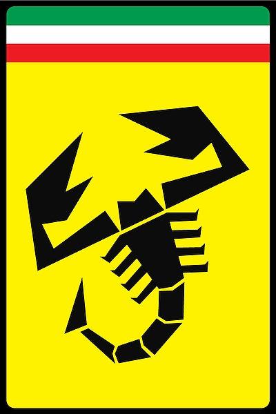 Abarth Scorpion metal sign