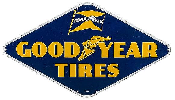 Goodyear Tires metal sign