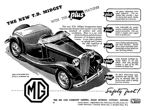 The New T.D. Midget by MG