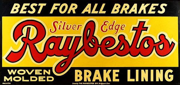 Raybestos Brake Lining metal sign