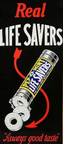 Lifesavers candy metal sign