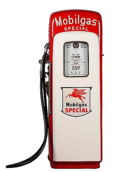 Mobilgas Petrol Pump metal sign