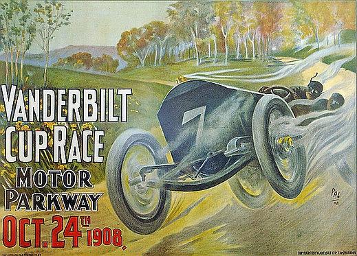 Vanderbilt Cup Race 1908 metal sign