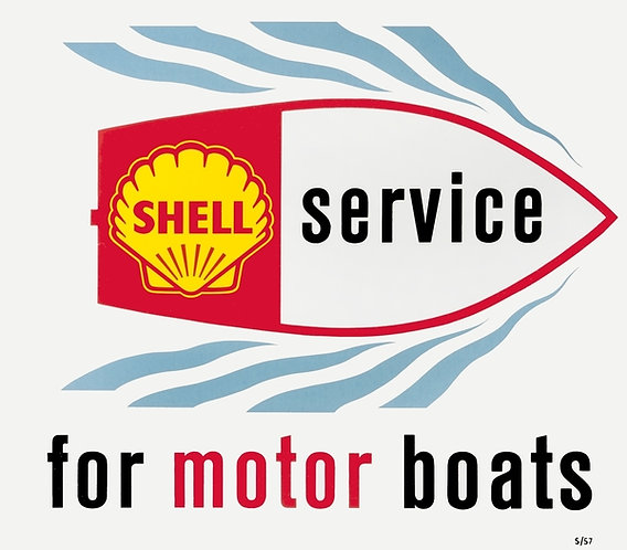 Shell Service for Motor Boats sign