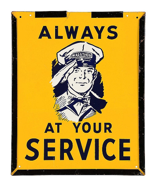 Always At Your Service metal sign