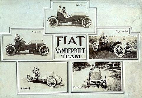 Fiat Vanderbilt Team metal sign