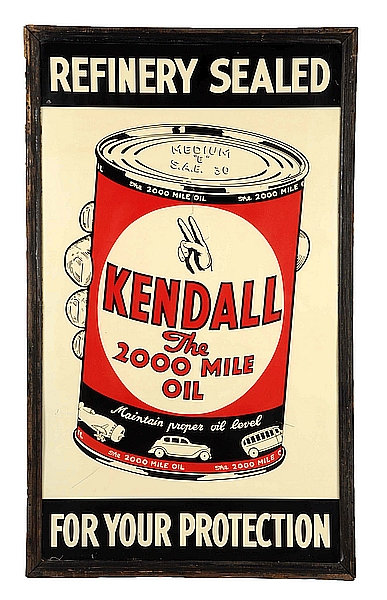 Kendall - The 2000 Mile Oil metal sign