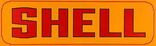 Old Shell metal sign
