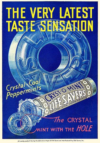 Lifesavers - The Very Latest Taste Sensation metal sign