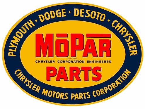 MoPar Parts sign