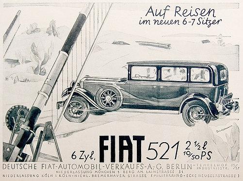 Fiat 521 metal sign