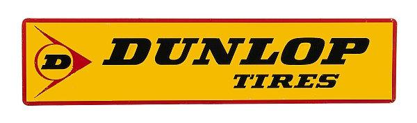 Dunlop Tires metal sign