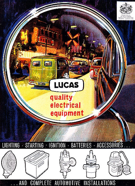 Lucas, Quality Electrical Equipment metal sign
