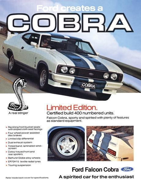 Ford Falcon Cobra advert