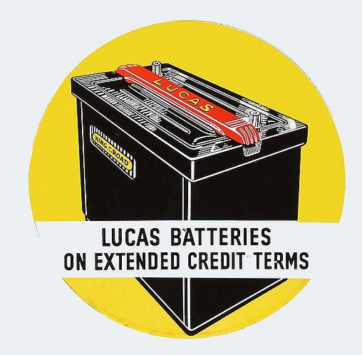 Lucas Batteries metal sign