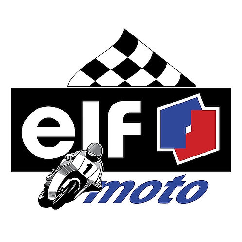 Elf Moto metal sign