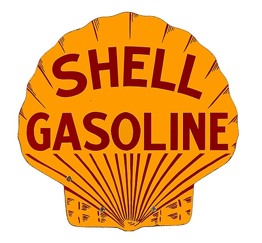 Early Shell Gasoline metal sign