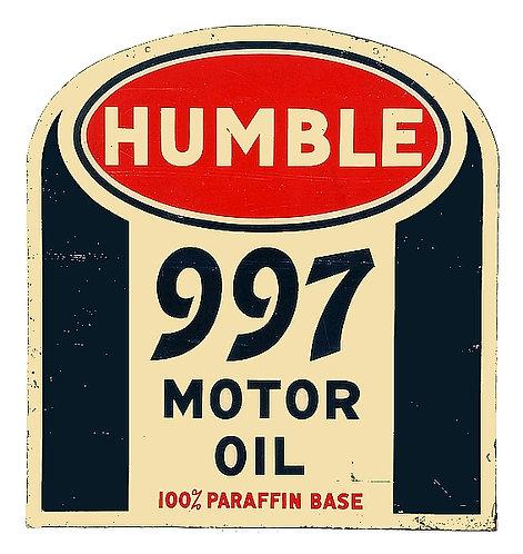 Humble 997 Motor Oil metal sign