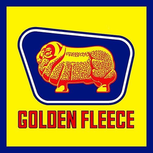 Golden Fleece blue border Sticker