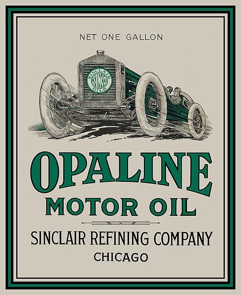 Opaline Motor Oil sign