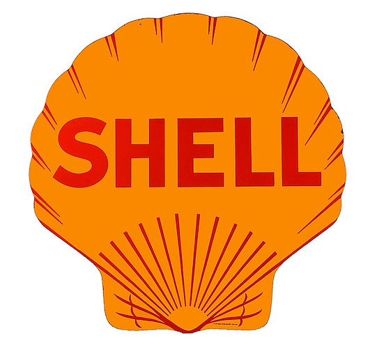 Early Shell metal sign