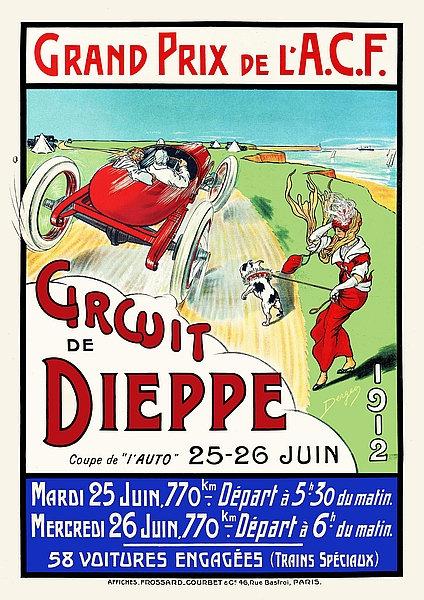 Circuit de Dieppe 1912 Sign
