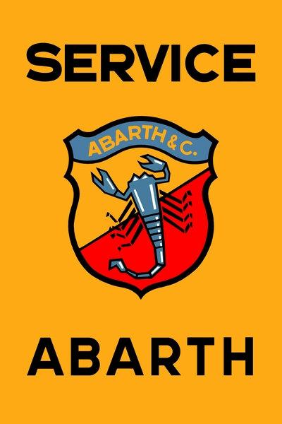 Abarth Service sign